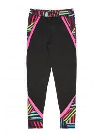 Older Girls Black Geo Print Long Leggings