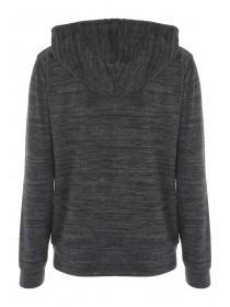 Womens Charcoal Zip Hoody