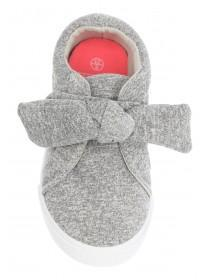 Younger Girls Grey Bow Trainers