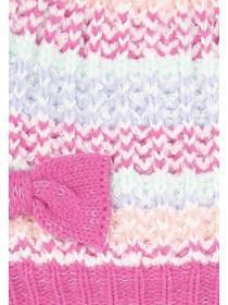 Baby Girls Pink Hat and Mittens Set