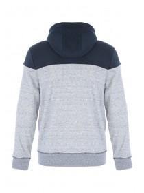 Mens Grey Zip Through Sweater