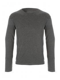 Mens Grey Thermal Long Sleeve Vest
