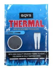 Boys Black Thermal Long Johns