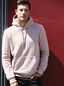 Mens Pink Long Sleeve Hoody