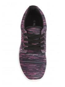 Womens Pink Casual Lace-Up Runner Trainer