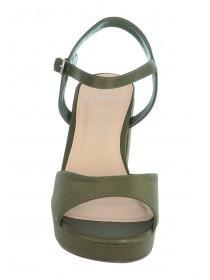 Womens Khaki Wide Fit Platform Sandals