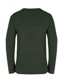 Mens Green Twist Texture Jumper