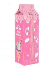 Girls Pink Carton Pencil Case