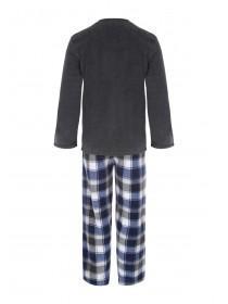 Mens Grey Fleece Pyjamas