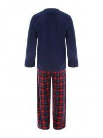 Mens Blue and Red Fleece Pyjamas
