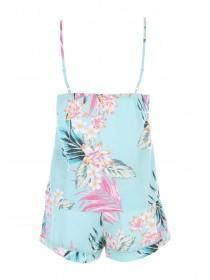 Womens Aqua Woven Top & Short Pyjamas