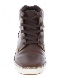 Mens Brown Hightop Trainer Boot