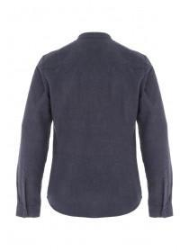 Mens Dark Blue Brushed Shirt