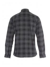 Mens Grey Flannel Check Shirt