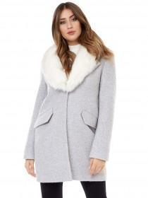 Jane Norman Grey Faux Fur Coat