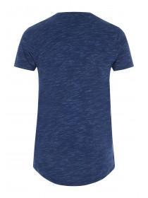 Mens Blue Longline T-Shirt