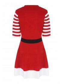 Womens Knitted Santa Dress