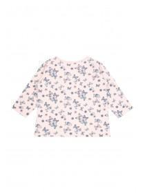 Baby Girls Pink Butterfly Long Sleeve T-Shirt