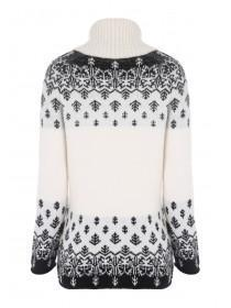 Womens Fairisle Roll Neck Jumper