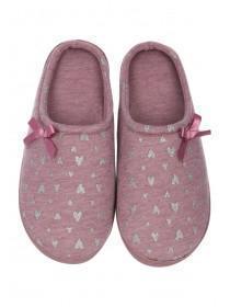 Womens Purple Comfort Slippers