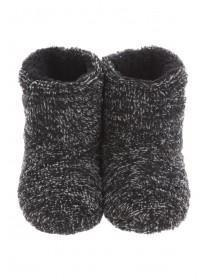 Boys Two Tone Slipper Boots