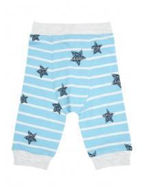 Baby Boys Light Blue Striped Star Joggers