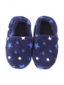 Younger Boys Blue Star Slippers