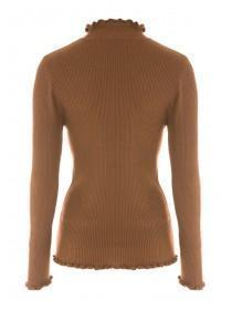 Womens Tan Turtle Neck Jumper