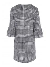 Womens Monochrome Check Dress