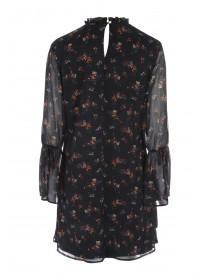 Womens Floral High Neck Dress