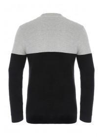 Mens Monochrome Colourblock Jumper