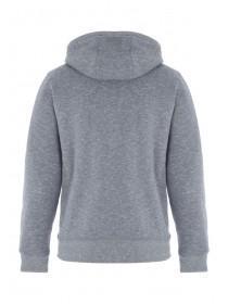Mens Grey Zip Up Sherpa Hoody