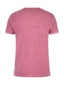Mens Basic Pink Space Dye T-Shirt
