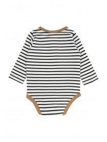 Baby Boy Dark Blue Stripe Bodysuit