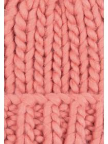 Womens Coral Pom Hat