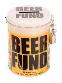 Mens Novelty Beer Fund Tin