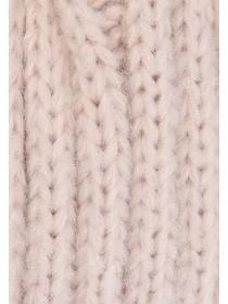 Womens Pale Pink Knitted Headband
