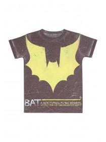 Younger Boys Yellow Batman Tee