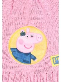 Younger Girls Pepper Pig Hat and Glove Set