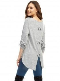 Jane Norman Grey Bow Back Jumper