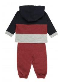 Baby Boys Red Hooded T-Shirt & Jogger Set