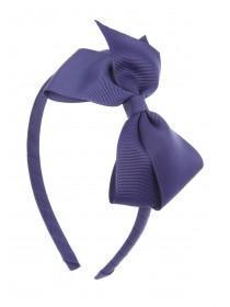 Girls Blue Bow Hairband