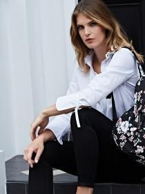 Womens White Tie Detail Shirt
