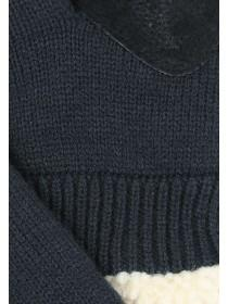 Mens Knitted Glove with Sherpa Fleece Lining