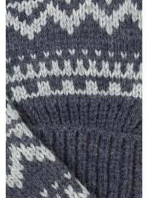 Mens Blue Fair Isle Gloves