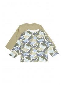 Baby Boys 2PK Long Sleeve Camo & Grey T-Shirt