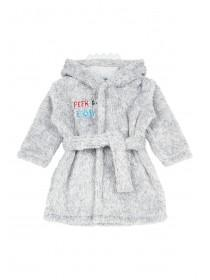 Baby Boys Grey Monster Dressing Gown and Slipper Set