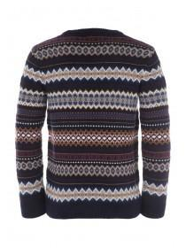 Mens Multi Fairisle Knit Jumper