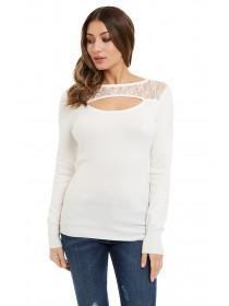 Jane Norman White Cut Out Detail Jumper