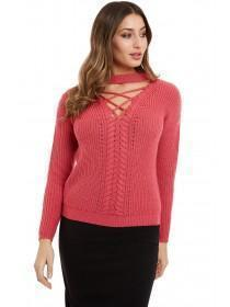 Jane Norman Pink choker jumper